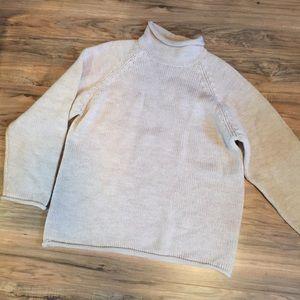 J Crew Chunky Oversized Wool Sweater Roll Neck